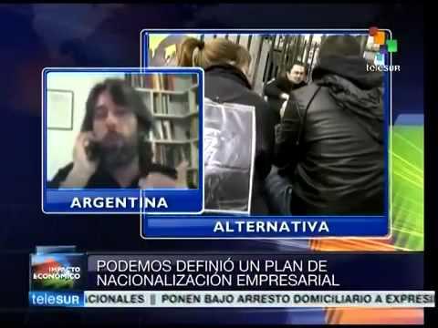 Alfredo Serrano Mancilla analiza Propuesta Económica Podemos (España) en Telesur