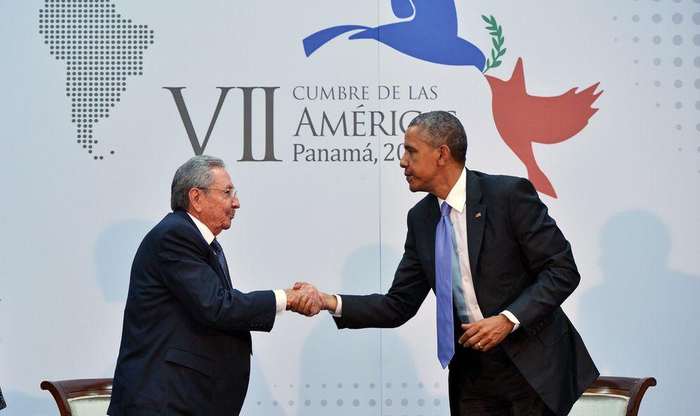 Una cumbre, dos Américas
