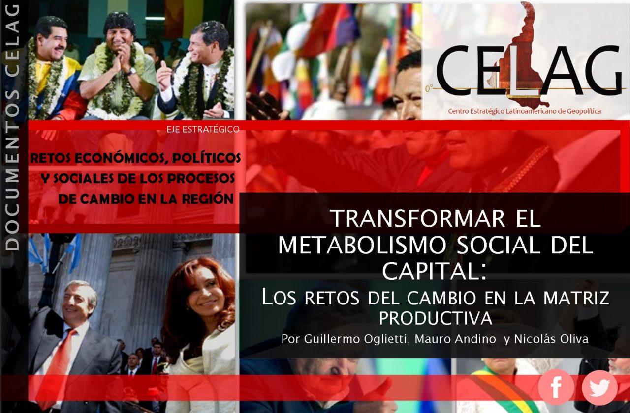 Transformar el metabolismo social del capital: los retos del cambio en la matriz productiva