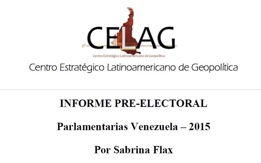 Informe pre-electoral Venezuela 2015
