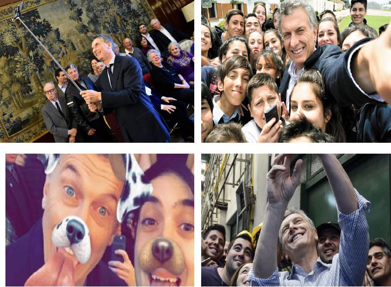 El selfie en la política