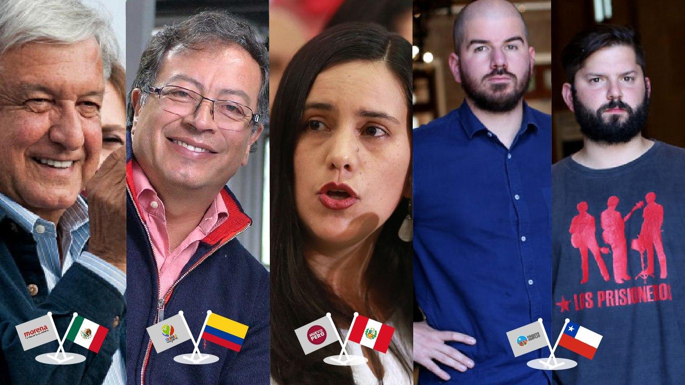 Foto de las nuevas figuras del progresismo latinoamericano