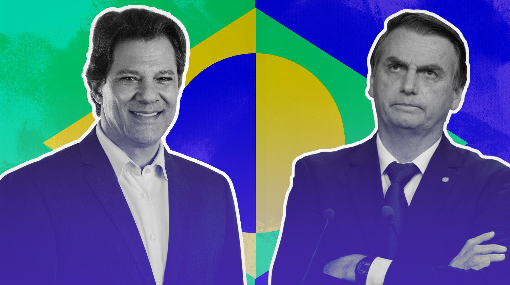 Proyecciones económicas de Haddad y Bolsonaro