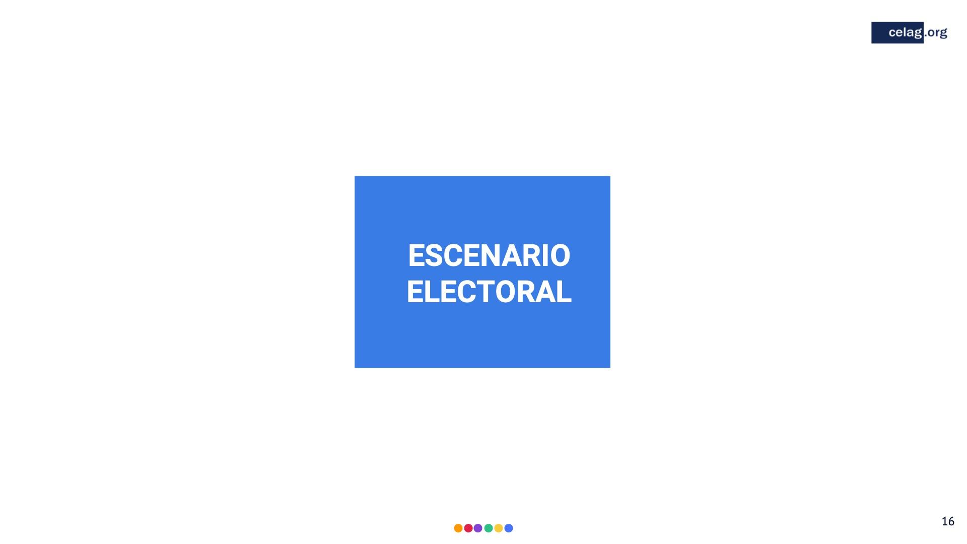 16 Elecciones bolivia escenario electoral
