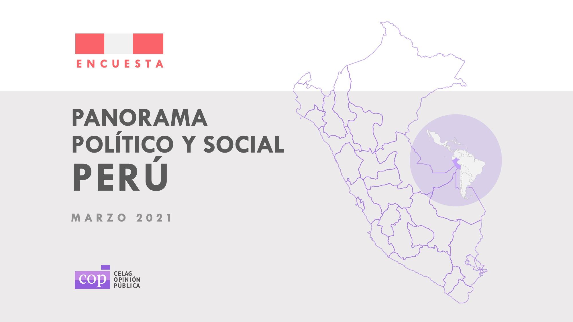 Perú define tres candidatos a las presidenciales, según encuesta
